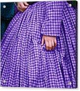 Ninetenth Century Woman In Purple Acrylic Print