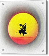 Ninja Duel In The Sun Acrylic Print