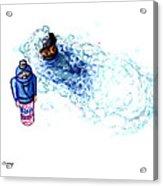 Ninja Stealth Disappears Into Bubble Bath Acrylic Print