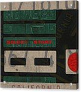 Nintendo Controller Vintage Video Game License Plate Art Acrylic Print