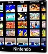 Nintendo History Acrylic Print by Benjamin Yeager