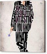 Ninth Doctor - Doctor Who Acrylic Print