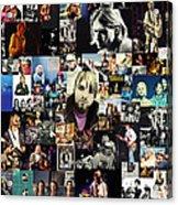 Nirvana Collage Acrylic Print by Taylan Apukovska