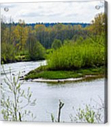 Nisqually River From The Nisqually National Wildlife Refuge Acrylic Print