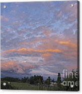 Nisqually Valley Sunset Acrylic Print