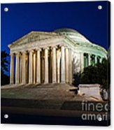 Nite At The Jefferson Memorial Acrylic Print