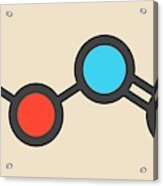 Nitrous Acid Mineral Acid Molecule Acrylic Print