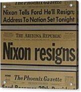 Nixon Resigns Acrylic Print