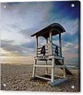 No 4 Lifeguard Station Acrylic Print