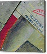 No Dumping - Drains To Ocean No 1 Acrylic Print