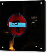 No-entry Sign Love Acrylic Print