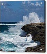 No Fishermen - Fun Sport At Laie Point Oahu North Shore Hawaii Acrylic Print