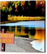 No Fishing II Acrylic Print