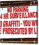 No Graffiti Acrylic Print