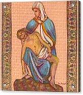 No Greater Love - Jesus And Mary  Acrylic Print