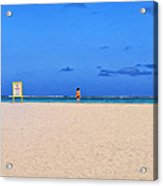 No Life Guard On Duty Acrylic Print