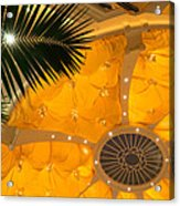 Sunshine Yellow Silk Decor With Stars Acrylic Print