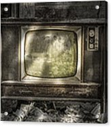 No One's Watching - Vintage Television In An Old Barn Acrylic Print