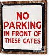 No Parking Vintage Sign Acrylic Print