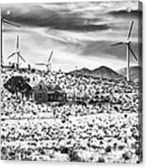 No Place Like Home Bw Palm Springs Desert Hot Springs Acrylic Print