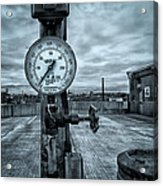 No Pressure Or The Valve At The Top Of The City  Acrylic Print by Bob Orsillo