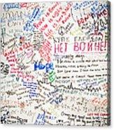 No To War 9/11 Acrylic Print
