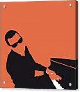 No003 My Ray Charles Minimal Music Poster Acrylic Print