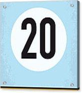 No038 My Le Mans Minimal Movie Poster Acrylic Print