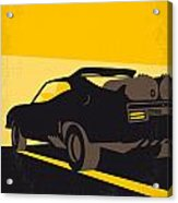 No051 My Mad Max 2 Road Warrior Minimal Movie Poster Acrylic Print