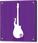 No124 My Purple Rain Minimal Movie Poster Acrylic Print by Chungkong Art