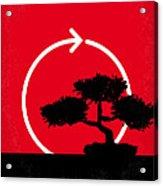 No125 My Karate Kid Minimal Movie Poster Acrylic Print by Chungkong Art