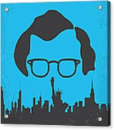 No146 My Manhattan Minimal Movie Poster Acrylic Print by Chungkong Art