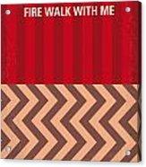 No169 My Fire Walk With Me Minimal Movie Poster Acrylic Print
