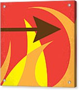 No175 My Hunger Games Minimal Movie Poster Acrylic Print