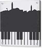 No192 My Casablanca Minimal Movie Poster Acrylic Print