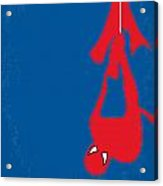 No201 My Spiderman Minimal Movie Poster Acrylic Print