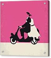 No205 My Roman Holiday Minimal Movie Poster Acrylic Print