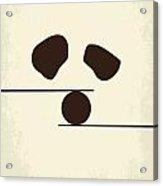 No227 My Kung Fu Panda Minimal Movie Poster Acrylic Print