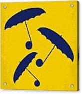 No254 My Singin In The Rain Minimal Movie Poster Acrylic Print by Chungkong Art