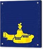 No257 My Yellow Submarine Minimal Movie Poster Acrylic Print