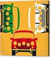 No279 My The Italian Job minimal movie poster Acrylic Print