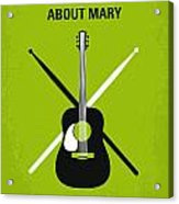 No286 My There's Something About Mary Minimal Movie Poster Acrylic Print