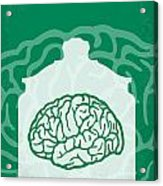 No390 My The Man With Two Brains Minimal Movie Poster Acrylic Print