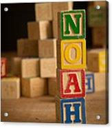 Noah - Alphabet Blocks Acrylic Print
