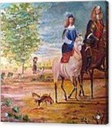 Nobel  Knight And Lady Acrylic Print