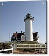 Nobska Lighthouse On Cape Cod At Woods Hole Massachusetts Acrylic Print