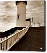 Nobska Lighthouse Acrylic Print by Skip Willits