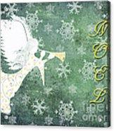 Noel Christmas Card Acrylic Print