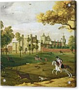Nonsuch Palace In The Time Of King Acrylic Print