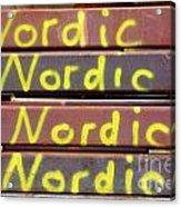 Nordic Rusty Steel Acrylic Print